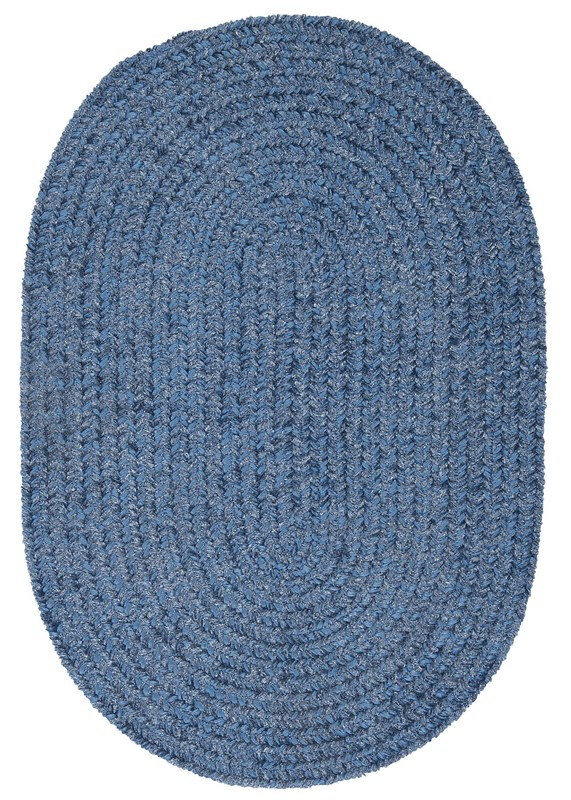 Colonial Mills Barefoot Chenille Bath Rug Casual Blue Rugs