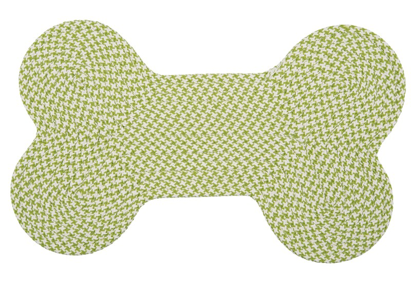 Colonial Mills Dog Bone Hounds-tooth Bright OT69 Lime RUG