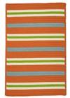 Colonial Mills Painter Stripe  Kids Tangerine Rugs