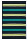 Colonial Mills Painter Stripe  Kids Navy Waves Rugs