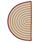 Colonial Mills Sliced Stripe Casual Gold & White Rugs