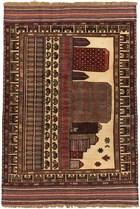 Ecarpet Tajik Tribal  Dark Red/Khaki RUG