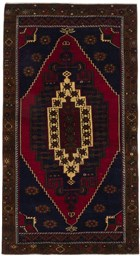 Ecarpet Anatolian Vintage  Dark Navy/Red RUG