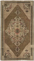 Ecarpet Anatolian Vintage  Dark Khaki Grey/Khaki RUG