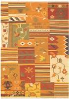 Ecarpet Hereke Kilim  Dark Orange/Light Orange/Orange RUG