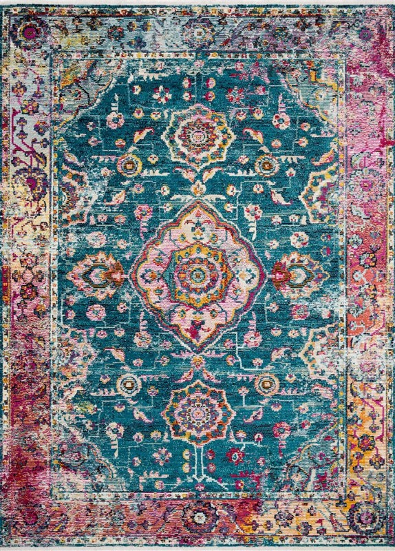 Loloi Silvia SIL-02 TEAL / BERRY Rug by Justina Blakeney