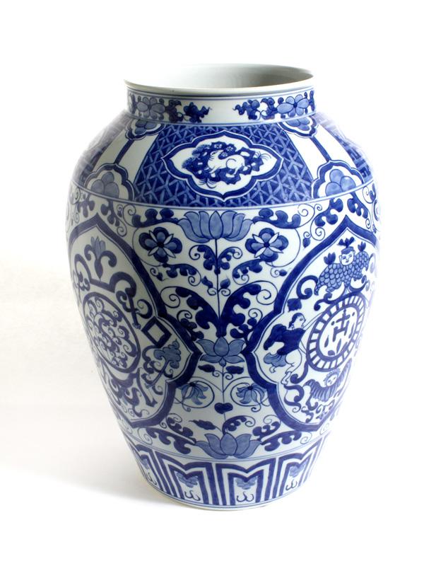 Blue Temple Vase