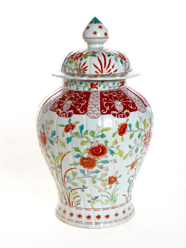 Red Floral Jar