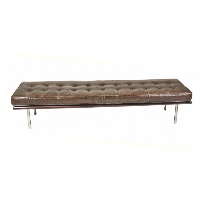 Artsome Mitzi Leather Bench