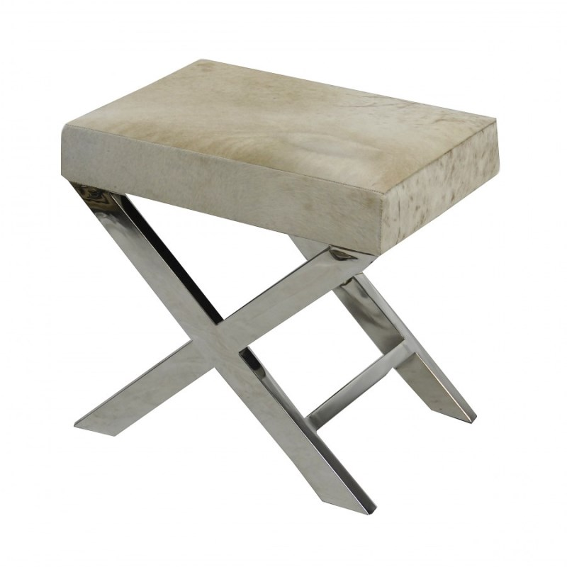 Zhari Cowhide Small Bench