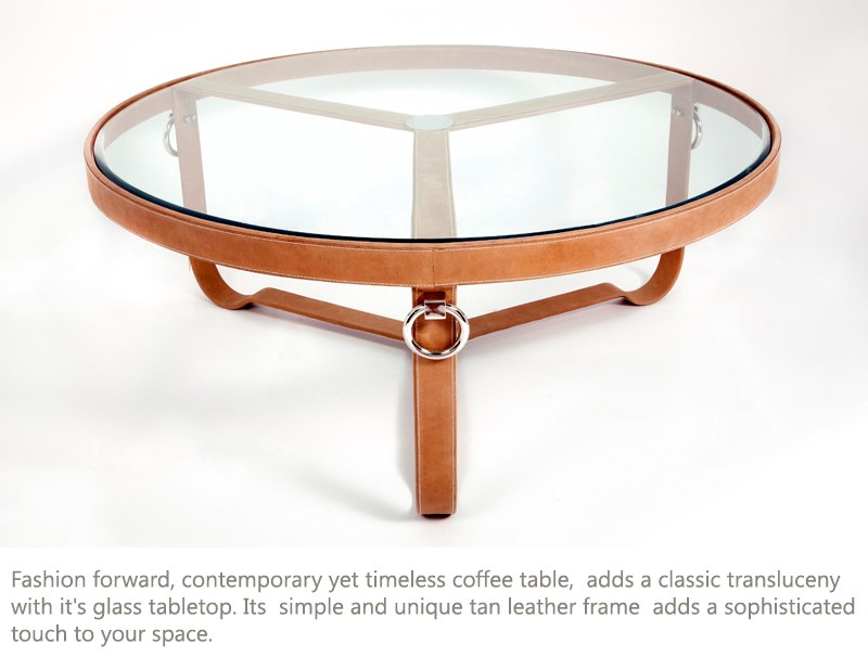 TAN COFFEE TABLE ROUND by M2