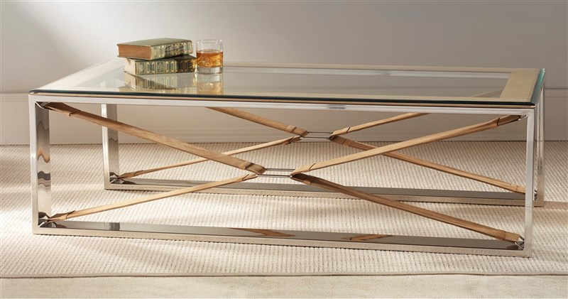 TAN COFFEE TABLE RECTANGLE by M2