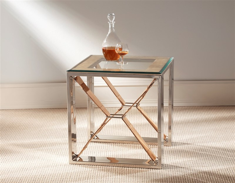 TAN SIDE TABLE SQUARE by M2