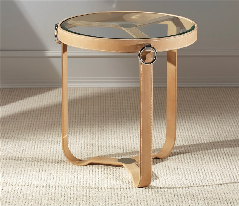 TAN SIDE TABLE ROUND by M2