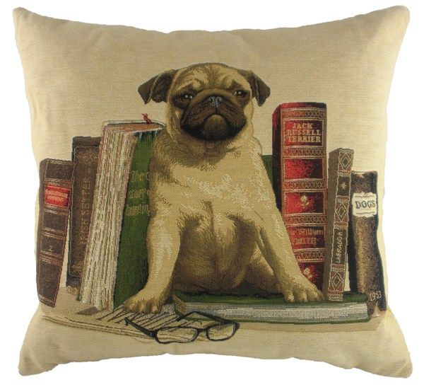Bookends Pug 18x18