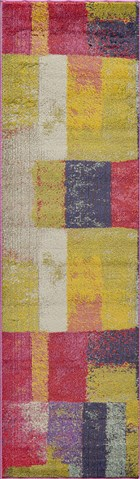 Soho Ikat Casual Abstract Runner Area Rug