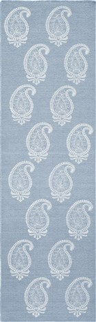 Momeni LACE EMBROIDED LAC1 SOFT BLUE RUG