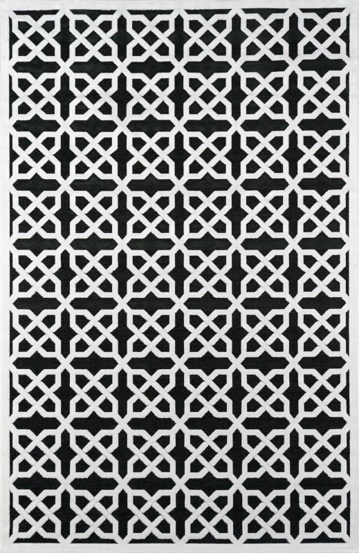 Momeni Platinum Pn04 Black Rug Geometric Home Brands Usa
