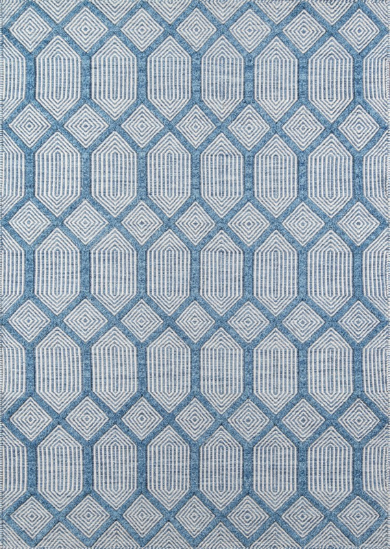 Erin Gates by Momeni Langdon Blue Contemporary Rugs LGD-4
