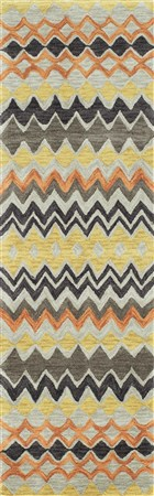 Soho Florence Contemporary Striped Runner Area Rug