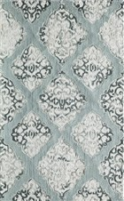 Soho Bristol Transitional Damask Rectangle Area Rug