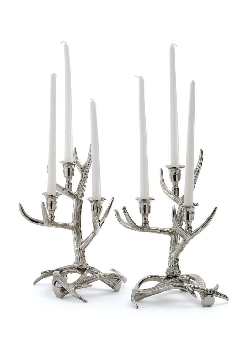 Pair Of Tangled Antler Candelabras By Go Home