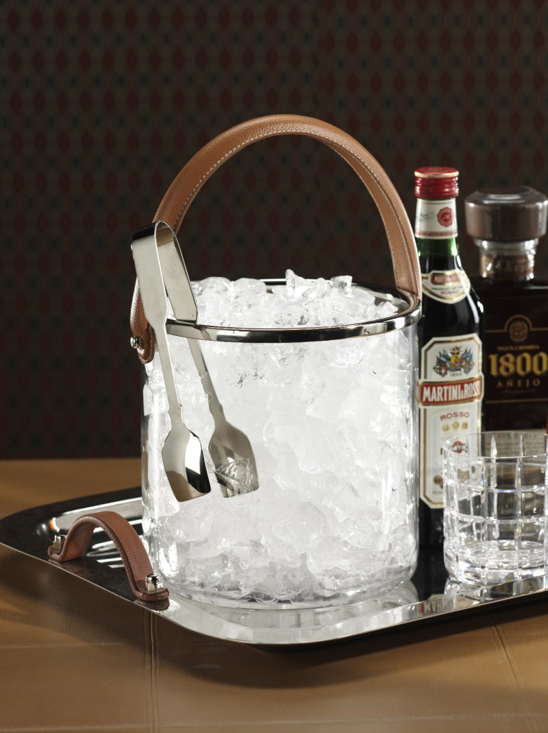 Barclay Butera Equestrian Ice Bucket W Leather Handle By