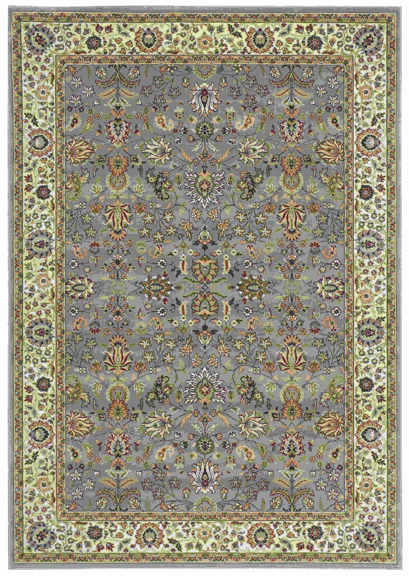 KATHY IRELAND ANTIQUITIES ROYAL COUNTRYSIDE SLATE BLUE AREA RUG BY NOURISON