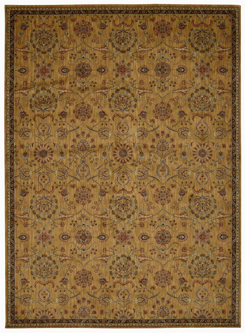 KATHY IRELAND ANCIENT TIMES PERSIAN TREASURE GOLD AREA RUG BY NOURISON