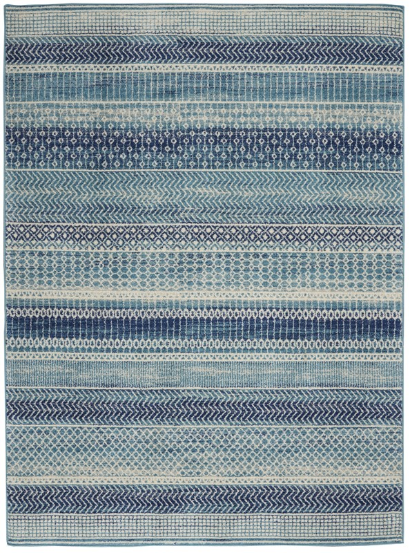 Nourison Passion Contemporary Navy Blue Rug PSN26