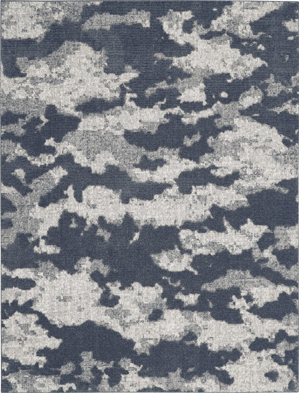 Nourison Textured Contemporary Blue Rug TEC01