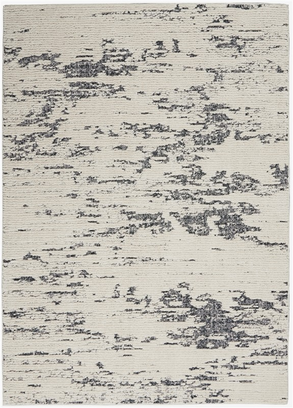Nourison Textured Contemporary Ivory Blue Rug TEC03