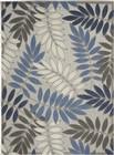 Nourison Aloha Indoor-Outdoor Grey-Blue Rug ALH18
