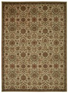 KATHY IRELAND ANCIENT TIMES PERSIAN TREASURE IVORY AREA RUG BY NOURISON