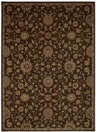 KATHY IRELAND ANCIENT TIMES ANCIENT TREASURES BROWN AREA RUG BY NOURISON