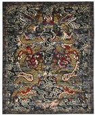 BARCLAY BUTERA DYNASTY EMPRESS MIDNIGHT AREA RUG BY NOURISON