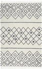 Nourison Diamond Trellis Shag Indoor Only Ivory-Slate Rug DMT02