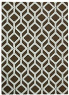 NOURISON ENHANCE CHOCOLATE BLUE AREA RUG