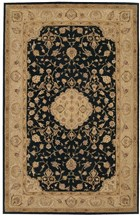 NOURISON HERITAGE HALL BLACK AREA RUG