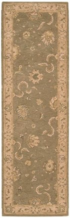 NOURISON HERITAGE HALL GREEN AREA RUG