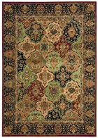 KATHY IRELAND LUMIERE PERSIAN TAPESTRY MULTICOLOR AREA RUG BY NOURISON