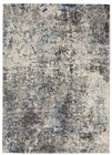 Kathy Ireland Ki60 Ivory Shore Contemporary Dark Grey Rug KI61