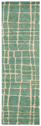 NOURISON TAHOE MODERN TURQUOISE GREEN AREA RUG