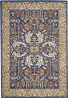 Nourison Majestic Traditional Denim Blue Rug MST02