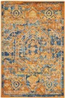 Nourison Passion Teal/Sun Area Rug