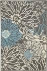 Charcoal/blue Rug