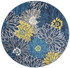 Nourison Passion Indoor Only Blue Rug PSN17