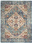 Nourison Passion Transitional Ivory-Light Blue Rug PSN23