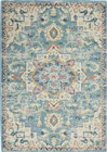Nourison Passion Transitional Ivory-Light Blue Rug PSN25