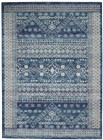 Nourison Passion Contemporary Navy Blue Rug PSN27
